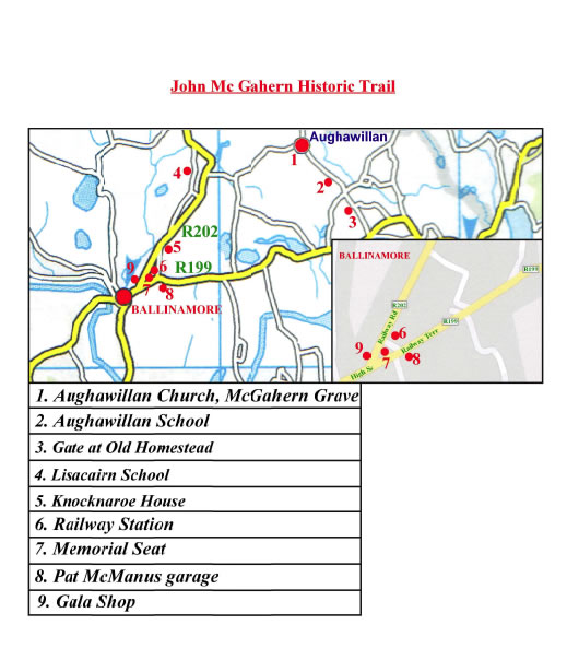 John McGahern Trail Map