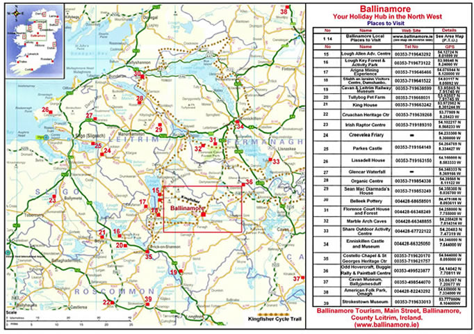 Leitrim Area map